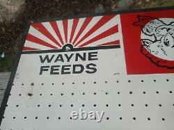 Vintage Wayne Nourrit Cow Pig Chicken Advertising Peg Board Store Display Sign