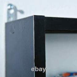 Vitrine Étagères De Rangement Modernes Mur Verre Noir Boîte Blanche Collectibles