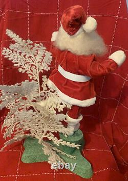 Vtg Harold Gale Santa Avec White Tree Advertising Counter Store Display 19 Mint