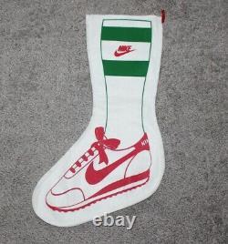 Vtg Nike Christmas Stocking Promo Store Display Waffle Runner Publicité Années 80