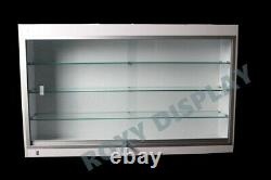 Wall Style White Showcase Display Case Store Fixture Knocked Down #sc-wc439w