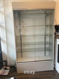 Wall White Display Show Case Retail Store Fixture With Lights Knocked Down Wc4wx