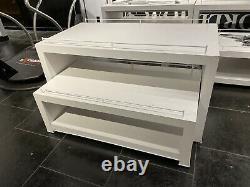 White Store Retail Display 2 Tables De Nidification Pièces