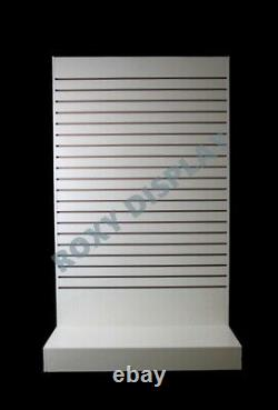 White Tower Slatwall Unité Knock Down Display Store Installation #sc-swl-w