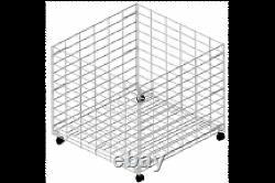 Wire 36 Dump Bin Rolling Retail Store Display Fixture Blanc Fabriqué Aux États-unis Nouveau