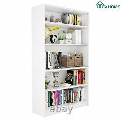 Yitahome Bookshelf Bookcase 5-shelf Wide Storage Display Réglable Étagères
