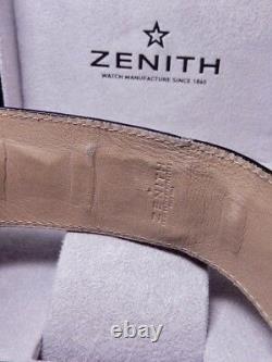 Zenith Elite Baby Star Noir Lizard 100% Nos Ref. Afficher Magasin 03.1220.67