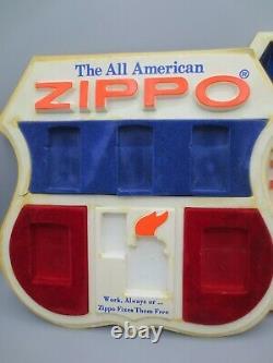 Zippo Lighter Store Comptoir Display Set De 2, Rouge, Blanc Et Bleu, Us Uniquement