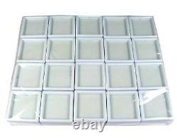 (acheter 1000 Pcs Obtenez 100 Pcs Gratuit) 3x3 CM Gem Display Boîte En Plastique Stockage Pour Gemmes